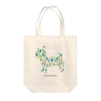 森 チワワ Tote bags