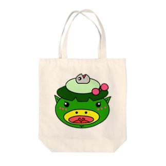 サカナカッパコの顔 Tote bags