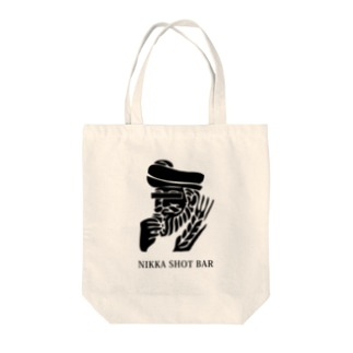 NIKKA SHOT BAR 黒ロゴ Tote bags