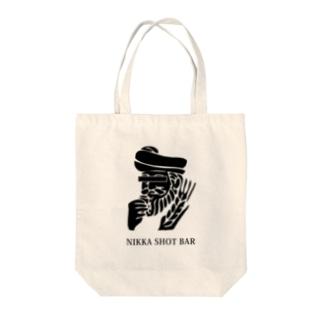 NIKKA SHOT BAR 大阪・高槻市のNIKKA SHOT BAR 黒ロゴ Tote bags