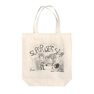 スーパーセッション Tote bags