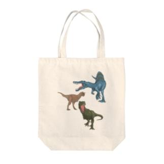 馬小屋の恐竜 Tote bags
