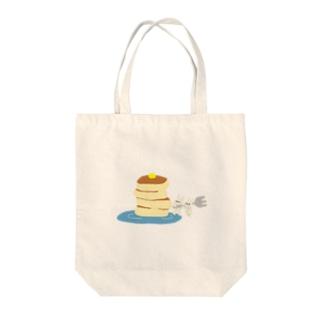 ホットケーキとウサギ Tote bags