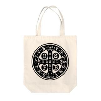 聖ベネディクトのメダイ Tote bags