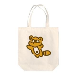 ジャンピングたぬき Tote bags