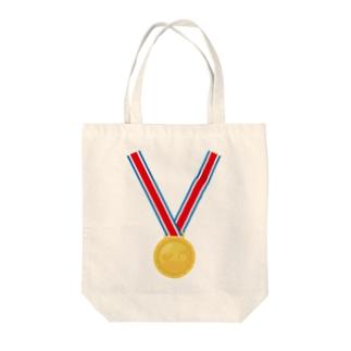 金メダル Tote bags