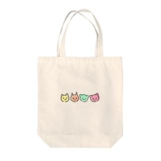 喜怒哀楽猫 Tote bags