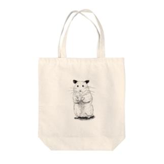 ハムとともに~with ham~ Tote bags