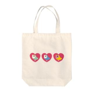 3 HEART KOZAKURA Tote bags