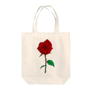 KAKENUKERUのバラ(色あり) Tote bags