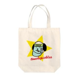 フェイスシールドウクちゃん Tote bags