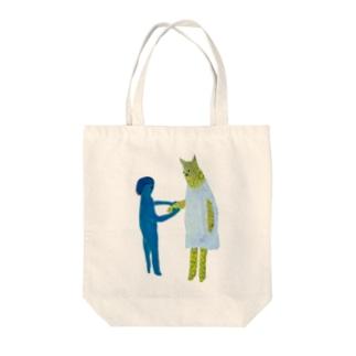 にぎにぎ Tote bags