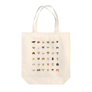 犬たち 36匹 黒文字バージョン Tote bags