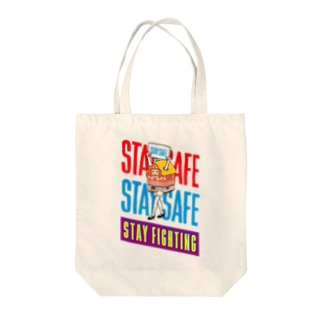 STAY FIGHTING 2 Tote bags