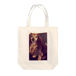 ダックスフンドのラッキーさん Tote bags