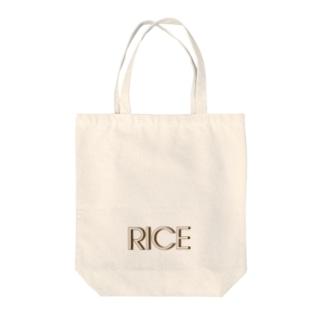 RICE Tote bags