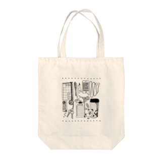 3pondSのモノトーンイラスト Tote bags