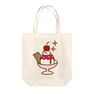 strawberry ice Tote bags