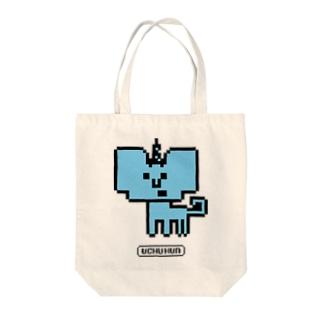 イッカクン Tote bags