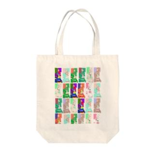 カラフル 着物 和柄 和風 花札 花魁 kimono colorful japanish vivid Oiran Tote bags