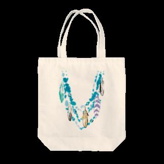 FJI-KAORUのオシャレにおめかし♪〜ターコイズブルー Tote bags