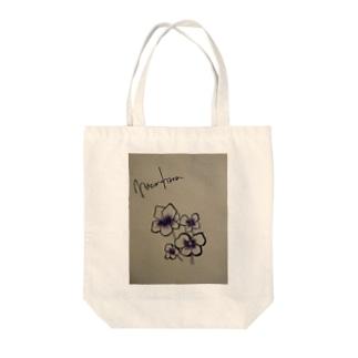 謎の花 Tote bags