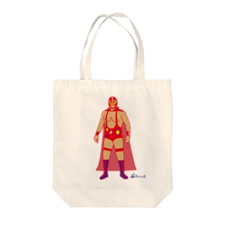 Red Rucha Tote bags
