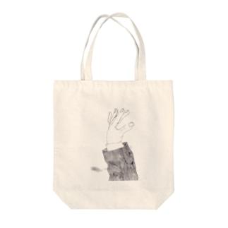 手招き Tote bags
