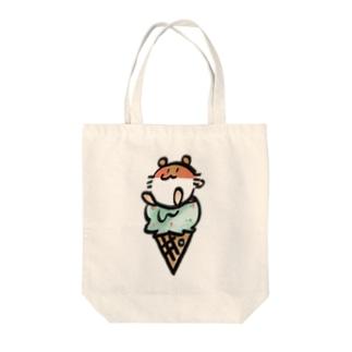 アイスきなこ Tote bags