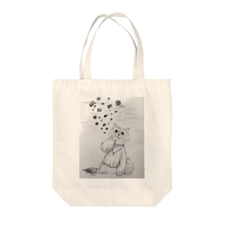 leo_knit(mono) Tote bags