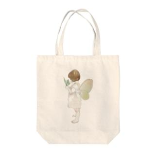 妖精 Tote bags
