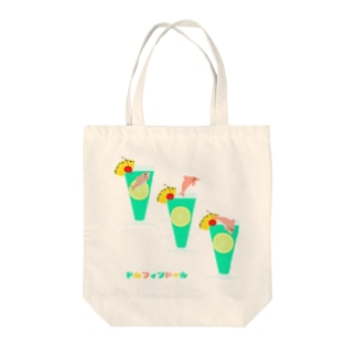 ドルフィンドール/ジャンプ Tote bags
