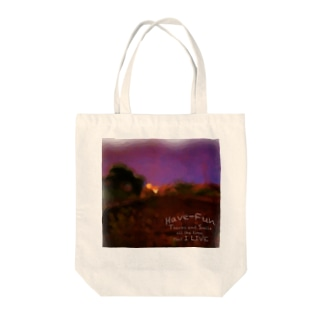 Have-Fun Photo Play紫空1 Tote bags
