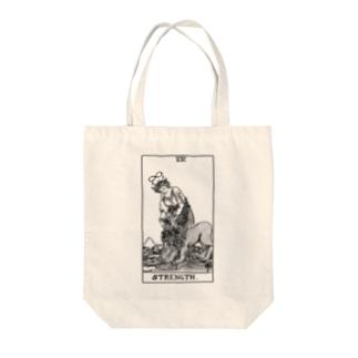 stranger Tote bags