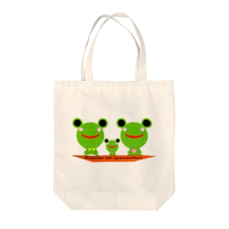 Famille de grenouilles Tote bags