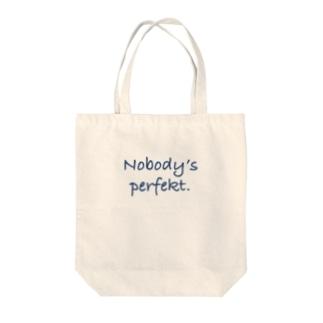 Nobody's perfekt. Tote bags