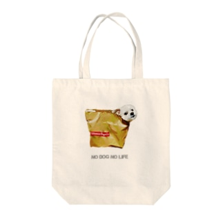 NO DOG  NO LIFE Tote bags