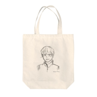 照れる少年 ラフ Tote bags