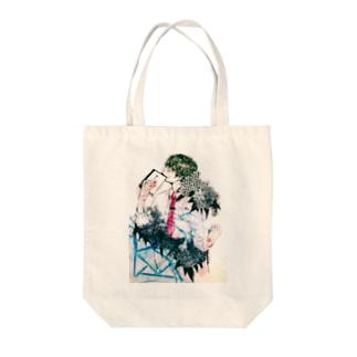 紫陽花男子(color) Tote bags