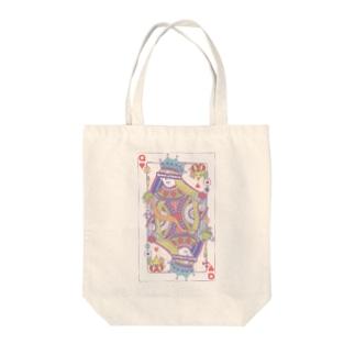 不思議の国のアリス-ハートの女王トランプ‐パステル Tote bags