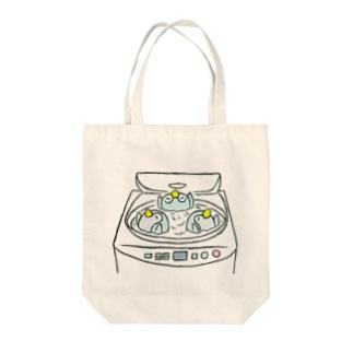 洗濯機で、ぐ〜るぐる🌀 Tote bags