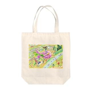 テコリン鳥 Tote bags