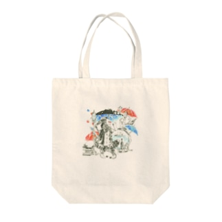 The Pierrot in June Tote bags