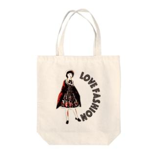 おしゃれ大好き少女 Tote bags