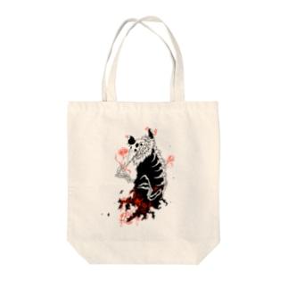 大トリ小トリ(薄い色背景用) Tote bags