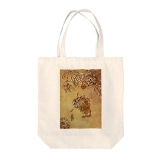 妖怪トリ(こんにちは) Tote bags