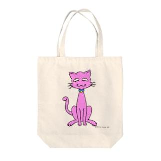 ぬこ(桃色) Tote bags