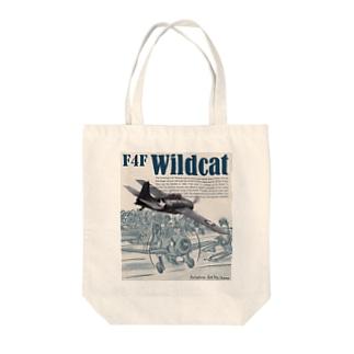 グラマン F4F ワイルドキャット Tote bags