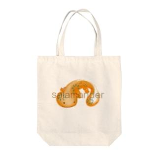 サラマンダー 花柄 Tote bags