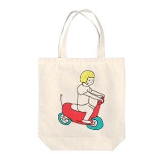 ゴーゴーバイク Tote bags
